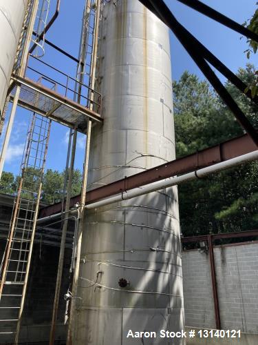 Used-Approximately 35,000 Gallon 304 Stainless Steel Tank
