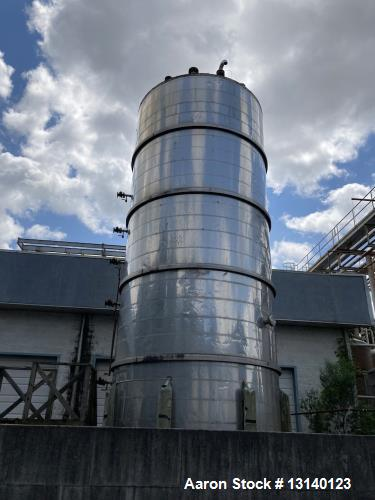 Used-Caslae Industries 25,000 Gallon 316L SS Vertical Tank