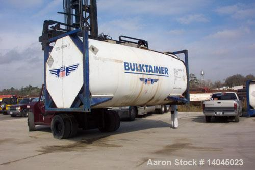 """Used-6600 Gallon Single Compartment Insulated ISO Tank Container. 316 stainless steel tank, horizontal. Approximately 7'7"""" d..."""