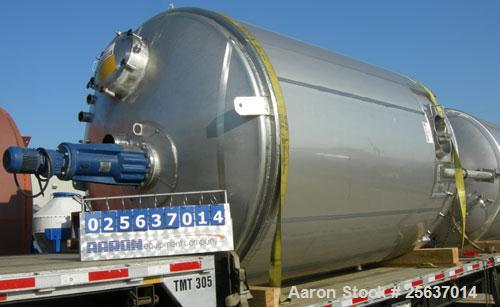 Used-Used-Tank. Stainless Fabricators. 5,000 gallon. 316L Stainless Steel. Vertical.Insulated.Mfg. new in 2002