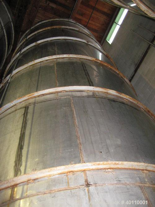 "Used: Westeel 17,196 Gallon (65,000 Liter) 304 Stainless Steel Storage Tank. Vertical Design. Approx. 10' Diameter x 31'6""  ..."