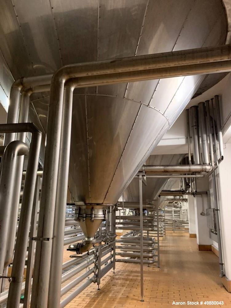 Used-Holvrieka Ido BV. vertical tank. Capacity 105820 gallon/400000-liter, 304 stainless steel on product contact parts. 187...