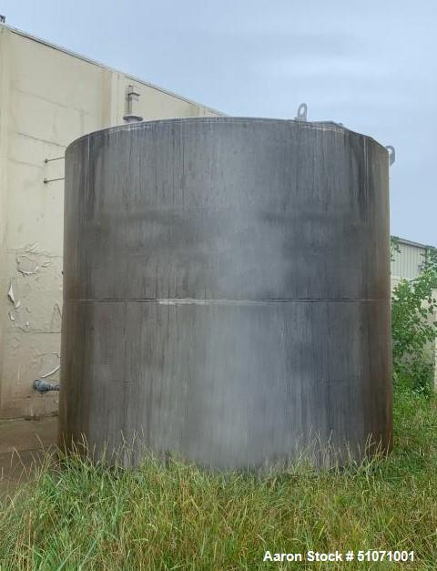 Used- Tank, Approximately 12,500 Gallon, Stainless Steel