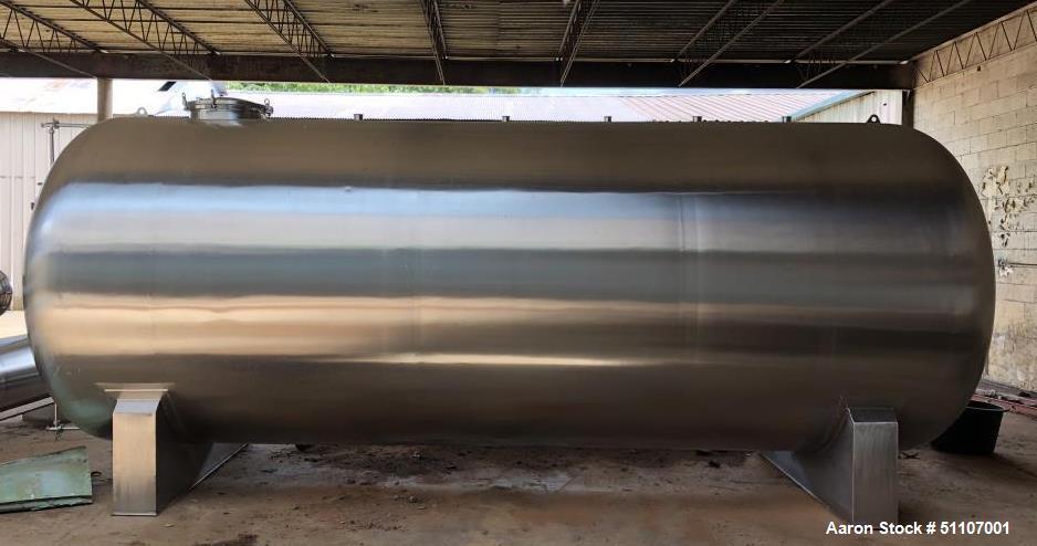 Unused- 20,000 Liter Stainless Steel Horizontal Storage Tank