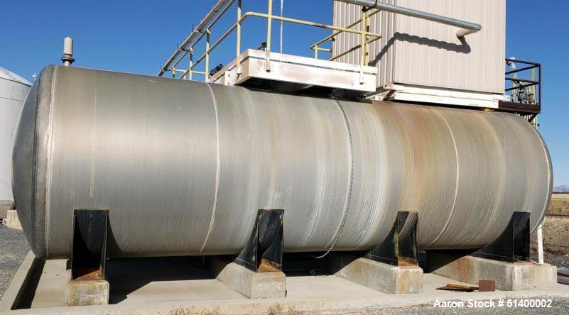 Used- Tank, Approximately 15,000 Gallon, Stainless Steel