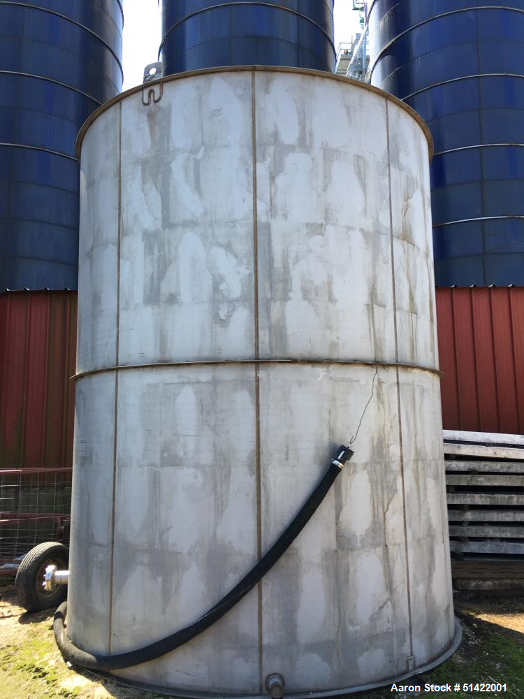Used- Tank, 12,600 Gallon, 316 Stainless Steel, Vertical