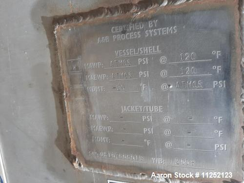 Used- A&B Process Systems Tank