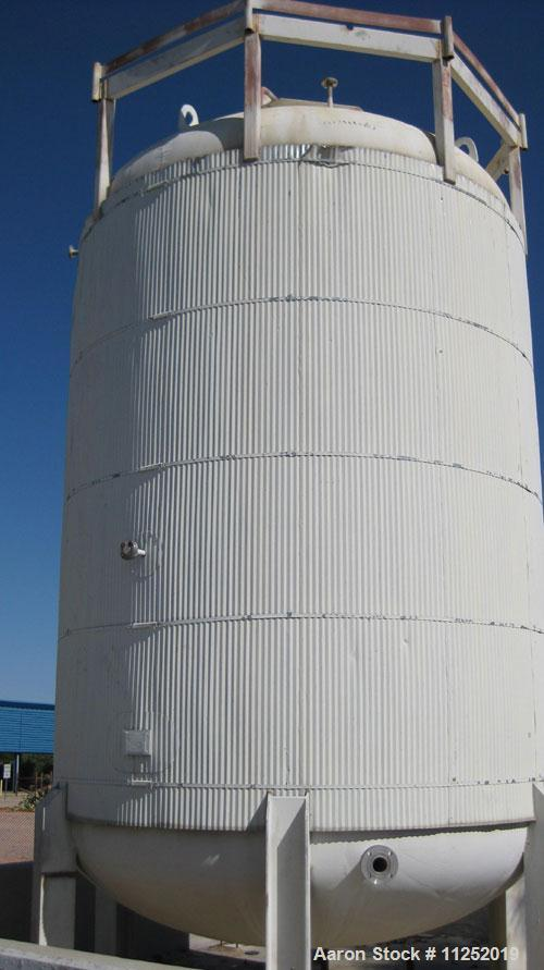 Used-Stainless Steel Tank, 10,000 gallon capacity, 316 stainless steel construction. Vertical pressure storage, rated for 10...