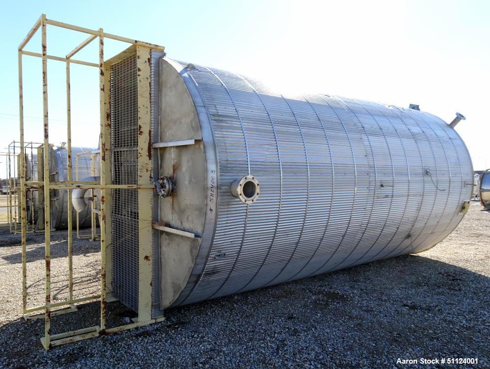 Apache Stainless Equipment, Tank, 10,000 Gallon, Vertical, Stainless Steel Stora
