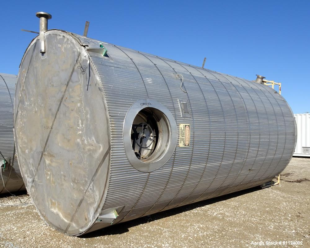 Apache Stainless Equipment, Tank, 10,000 Gallon, Vertical, Stainless steel.