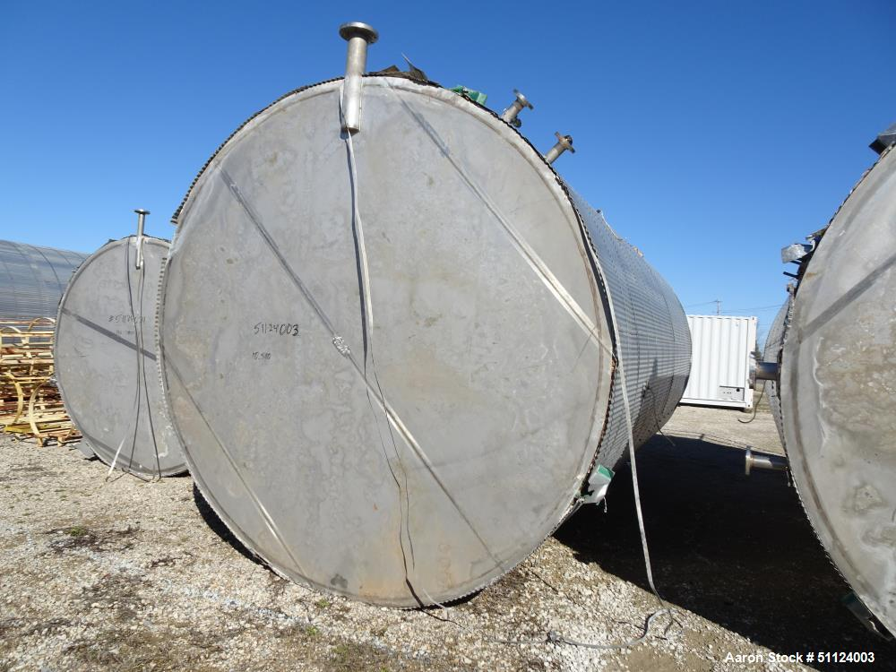 Used- Apache Stainless Equipment Tank, API-650-10,000 Gallon, 316L Stainless Ste