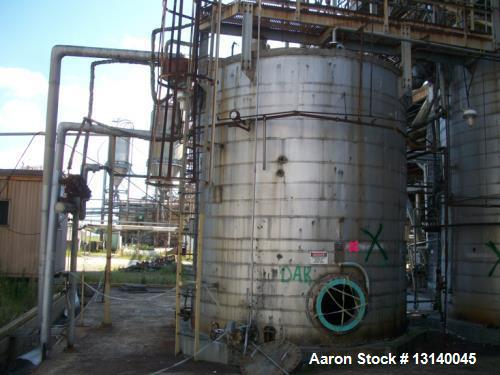 "Used- Capital City Iron Works 12,000 Gallon Vertical 304 Stainless Steel Tank. 12' diameter x 14'-3"" high straight side. Int..."