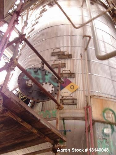 """Used- Capital City Iron Works 16,000 Gallon 304 Stainless Steel Pressure Mix Tank. 12 diameter x 19-3"""" high straight side. W..."""