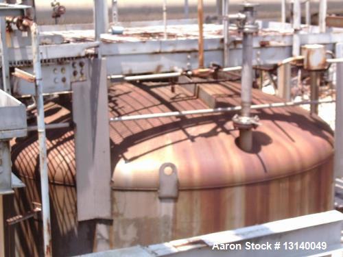 """Used- Capital City Iron Works, Approximately 16,000 Gallon, 304 Stainless Steel Pressure Tank. 12 diameter x 19-3"""" high stra..."""