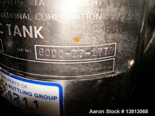 """Used-Cherry Burrell 6,000 Gallon Vertical Storage Tank. 9'3"""" diameter x 11'6"""" straight side, 15'6"""" overall height. 6 Stainle..."""