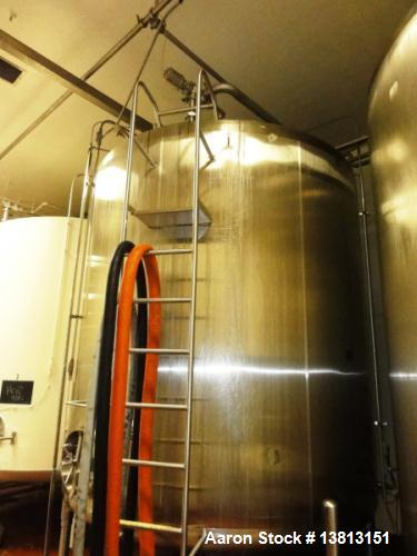 Used- 5,000 Gallon Stainless Steel Cherry Burrell Agitated Mix Tank