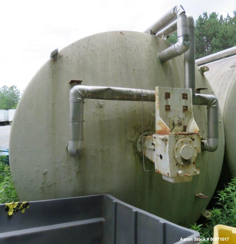 Used- Mueller 10,000 Gallon Mix Tank, 304 Stainless Steel, Vertical.