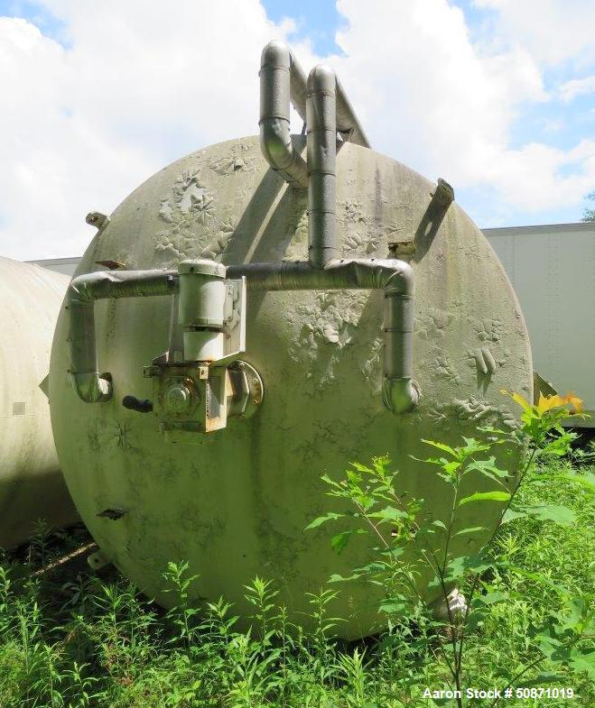 Used- Mueller 8,000 Gallon Mix Tank, 304 Stainless Steel, Vertical.