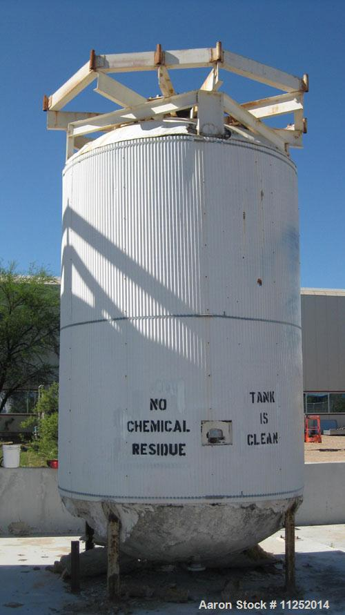 Used-Stainless Steel Tank, 5,000 gallon capacity. 316 Stainless steel construction, vertical pressure storage, rated for 100...