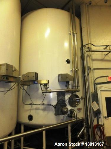 Used- 10,000 DCI Gallon Mixing Tank with Vent on Top. Dish top and bottom electrically heated (previously used for liquid su...