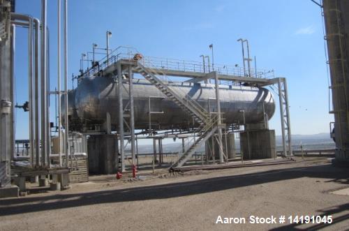 Used- 65,000 Gallon Horizontal Carbon Steel Pressure Vessel (bullet tank).