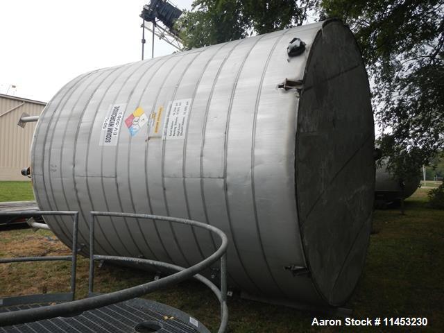 Used- 12,000 Gallon Enerfab Stainless Steel  Enerfab Storage Tank