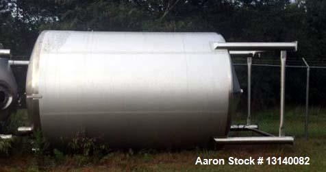 "Used- Feldmeier, (approximately) 6,000 Gallon, 316L Stainless Steel Vertical Storage Tank. 108"" diameter x 144"" high straigh..."
