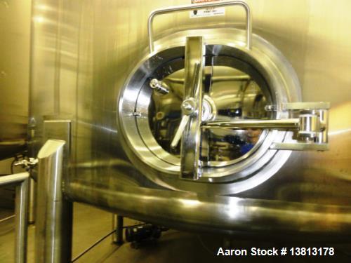 "Used- Feldmeier 16,300 Gallon Vertical Top Agitated Mixing Tank, Stainless Steel. 14'5"" diameter x 17' straightwall x 23' ov..."