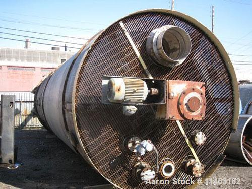 """Used-16,978 Gallon Five Star Industries Mix Tank.  304 Stainless steel construction, approximately 10' diameter x 26'9"""" stra..."""