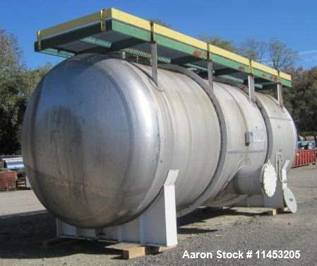 """Used-19,000 Gallon Henderson Horizontal Receiver, stainless steel construction, approximately 11' diameter x 27"""" long, dishe..."""