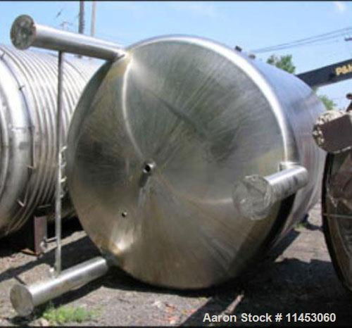 Used-5,000 gallon Inox receiver tank, 316 stainless steel construction. 9' diameter x 10' straight side, dished top and bott...