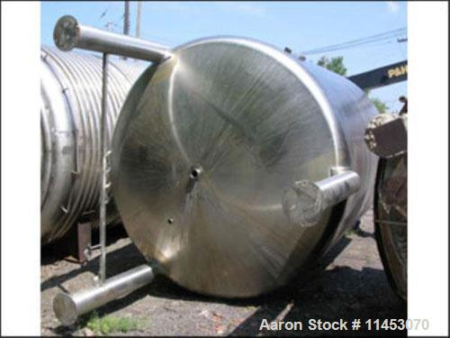 Used- INOX Pressure Tank, 5000 Gallon, 316 Stainless Steel, Vertical. 9' diameter x 10' straight side, dished top and bottom...
