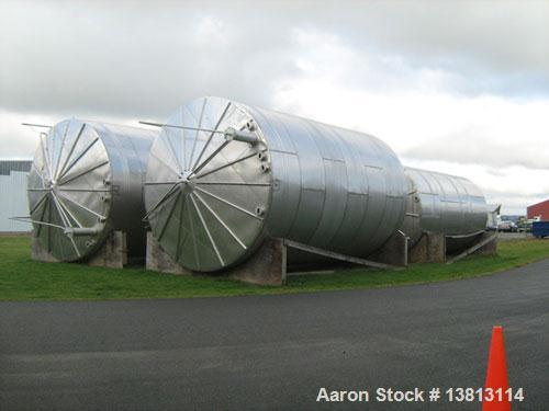 Used-J&S 30,000 Gallon Stainless Steel Tank. Type 316 stainless steel. Top head is 308 stainless steel. Overall dimensions a...