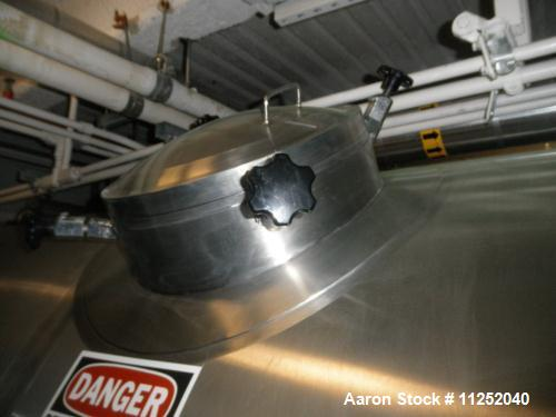 Used- JV Northwest 6600 Gallon Stainless Steel, Jacketed Pressure Tank, Horizontal Orientation. Measures 7' diameter x 32' l...