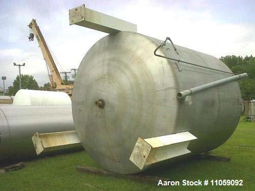 Used- Approximately 7,000 Gallon Stainless Steel Tank. 10' diameter. x 11' T/T. Cone top, dish bottom. Built by Kennedy Tank...