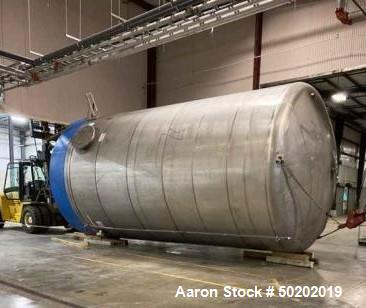 Used- L'Hoir 24,000 Gallon (20k imperial gallon) 304 Vertical Stainless Steel Ta