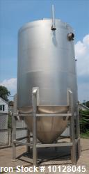 Used - Andritz Conical Bottom Tank, 5,000 gallon, vertical 304L Stainless Steel