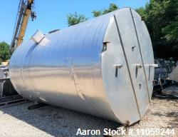 Used-6000 Gallon Stainless Steel Cone Bottom Tank with Flat Top
