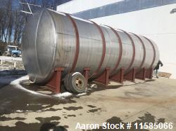 Used-Approximately 20,000 Gallon Horizontal T304 Stainless Steel Tank