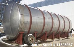 Used- Horizontal T304 Stainless Steel Tank