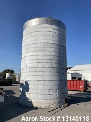 Used-Approximately 16,900 Gallon Vertical Stainless Steel Tank