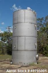 Used-Tank, Chicago Boiler Company,  Approximately 11,667 Gallon, 304 Stainless steel, 10' diameter x 20' high. Slight Cone T...