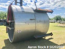 Used 6000 Gallon Open Top 304 Stainless Steel Mix Tank