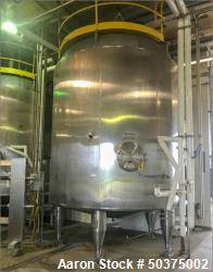 Used-Tank, 7,250 Gallon, Stainles Steel, Jacketed.
