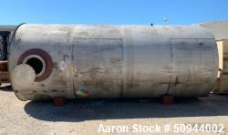Used- Midwest Fabricators, 11,000 Gallon Stainless Steel Storage Tank