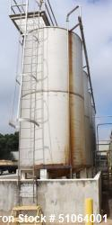 Used-Tank, Stainless steel, Approximately 6,000 Gallon.  Approximately 8' diameter x 16' high. Vertical. Dished top and bott...