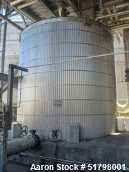 Used-Gilbert Vertical tank, API 650.  SS304 rated at 6 in WC /-10 in WC psig at 212F. Size is 13 ft dia x 13 ft Tall for a c...