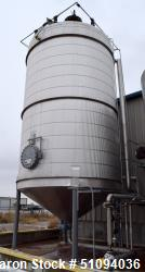 "Used- A&B Process Tank, Approximate 20,000 Gallon, 316L Stainless Steel, Vertical. Approximate 156"" diameter x 240"" straight..."