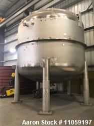 Unused- 9500 Gallon (36000 Liter) 316L Stainless Steel Vessel.
