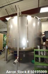 "Used-Apache Stainless Tank, 7000 Gallon, Stainless Steel, Vertical. 144"" Diameter x 84"" straight side, dished top & bottom. ..."